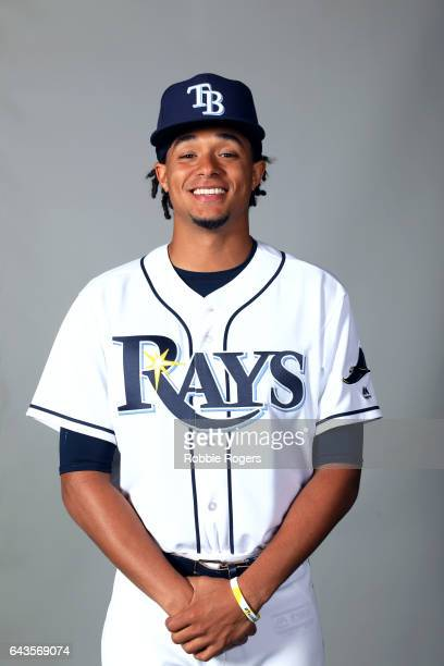 Chris Archer of the Tampa Bay Rays poses during Photo Day on Saturday February 18 2017 at Charlotte Sports Park in Port Charlotte Florida