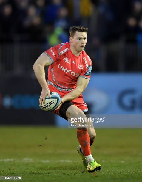 Chris Ashton of Sale Sharks in action during the Gallagher Premiership Rugby match between Bath Rugby and Sale Sharks at the Recreation Ground on...
