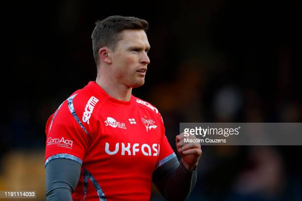 Chris Ashton of Sale Sharks looks on during the Gallagher Premiership Rugby match between Worcester Warriors and Sale Sharks at on November 30 2019...