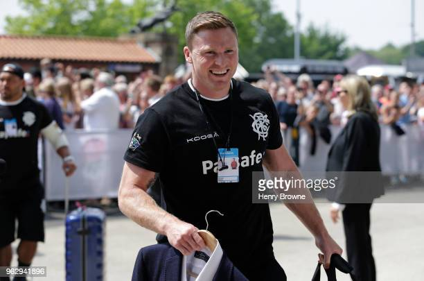 Chris Ashton of the Barbarians arrives before the Quilter Cup match between England and Barbarians at Twickenham Stadium on May 27 2018 in London...
