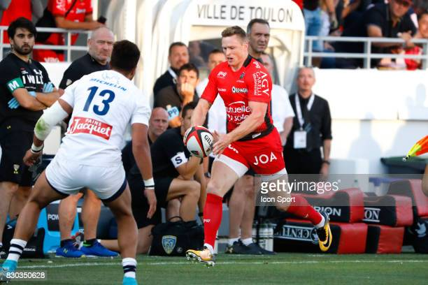 Chris Ashton of Toulon during the preseason match between Rc Toulon and Clermont Auvergne at Felix Mayol Stadium on August 11 2017 in Toulon France