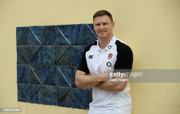 Chris Ashton poses during the England media session held at Browns Sport and Leisure Club on October 25 2018 in Vilamoura Portugal