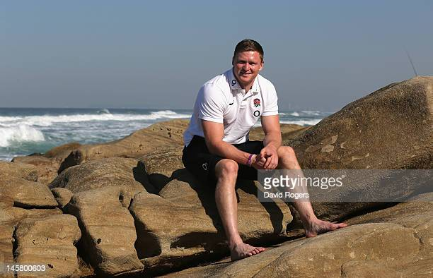 Chris Ashton the England wing poses on the beach at Umhlanga Rocks on June 6 2012 in Umhlanga South Africa