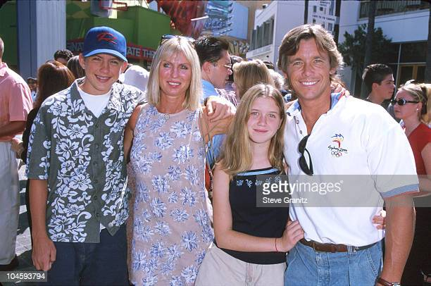 Chris Atkins and family during The Adventures of Rocky Bullwinkle Los Angeles Premiere at Universal Studios Cinema in Universal City California...