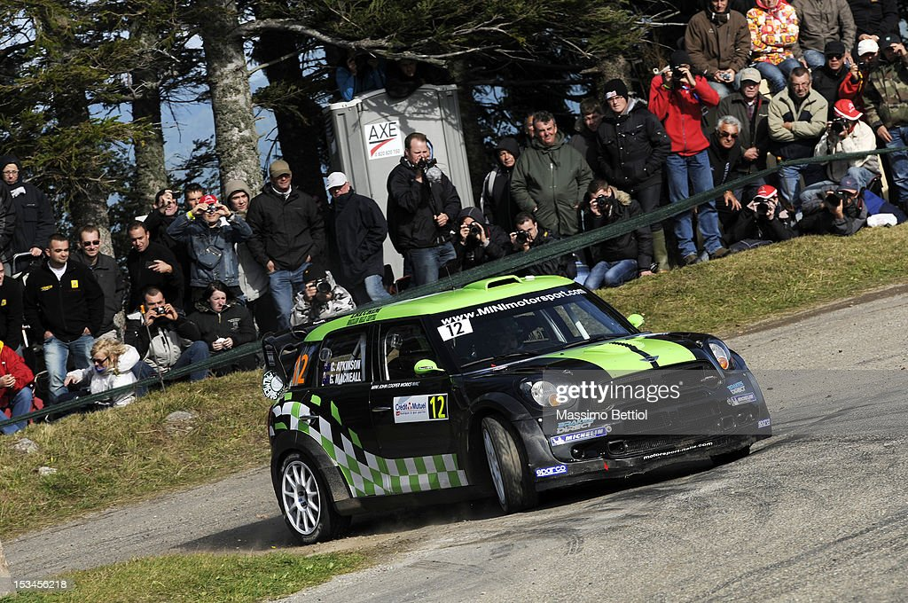 Chris Atkinson of Australia and Glenn McNeal of Australia compete in their WRC Team Mini Portugal Mini John Cooper Works WRC during Day One of the WRC France on October 05, 2012 in Strasbourg , France.