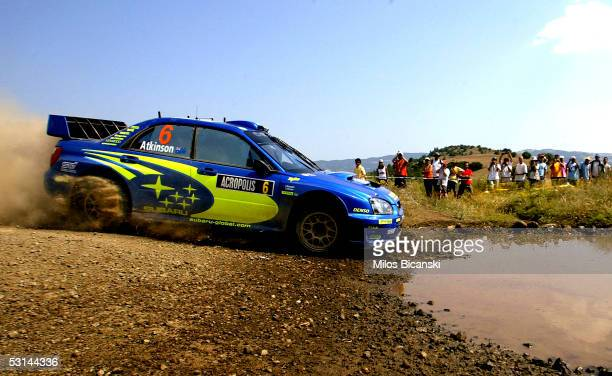 Chris Atkinson of Australia drives his Subaru Impreza during day 1 of the Acropolis Rally of Greece on June 24 2005 in Regini Greece