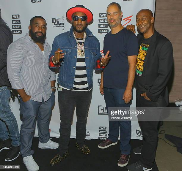 Chris Atlas Young Jeezy Jesse Collins and Stephen Hill attend the TD3 Reception Hosted By Def Jam at STK on September 17 2016 in Atlanta Georgia