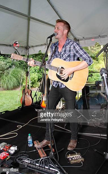 Chris Ayer performs at Livestage Summer Splash For the Love of Music Launch Event on July 26 2014 in East Hampton New York