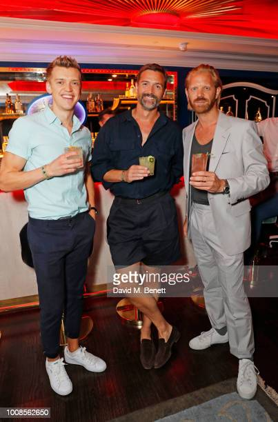 Chris Baber Patrick Grant and Alistair Guy attend Casamigos Tequila's 'Away for August' private dinner at Bagatelle on July 31 2018 in London United...