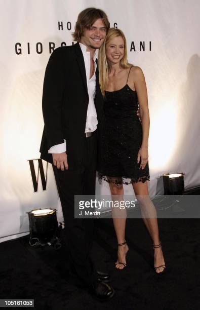Chris Backus and Mira Sorvino during Giorgio Armani Receives The First Rodeo Drive Walk Of Style Award Arrivals at Rodeo Drive Walk Of Style in...