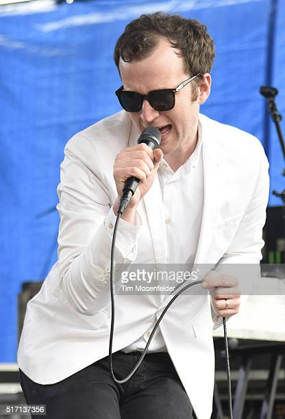 Chris Baio of Baio performs at the Spin at Stubb's SXSW Showcase at Stubb's BarBQue on March 18 2016 in Austin Texas