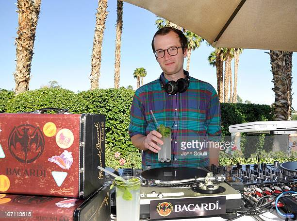 Chris Baio of Vampire Weekend attends the Soho House Pop Up with Bacardi during Coachella 2013 at Merv Griffin Estate on April 20 2013 in La Quinta...
