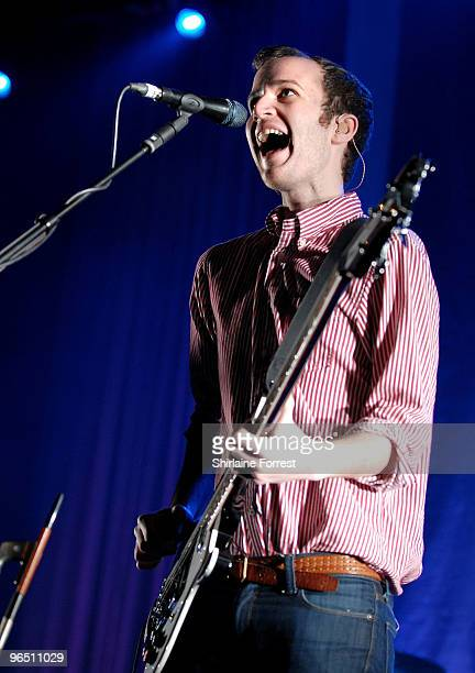 Chris Baio of Vampire Weekend performs at Manchester Apollo on February 8 2010 in Manchester England