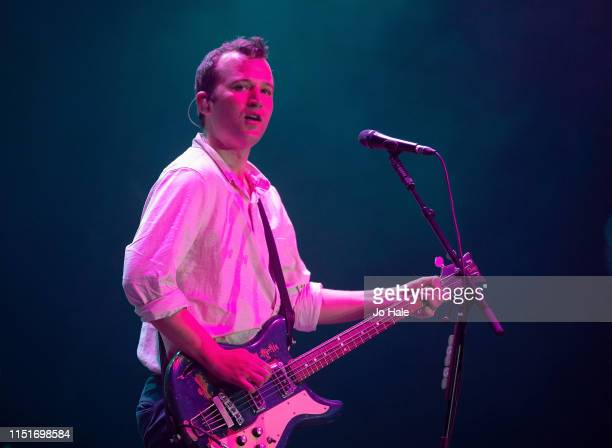 Chris Baio of Vampire Weekend performs at the Radio 1 Big Weekend at Stewart Park on May 25 2019 in Middlesbrough England