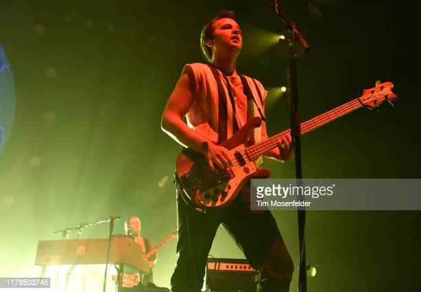 Chris Baio of Vampire Weekend performs during the band's Father of the Bride tour at Bill Graham Civic Auditorium on October 01 2019 in San Francisco...