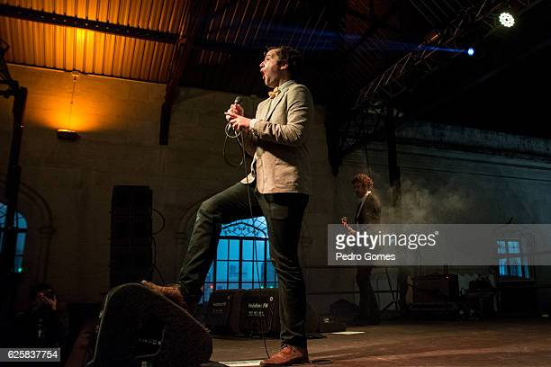 Chris Baio performs at Estacao Ferroviaria do Rossio in Mexefest on November 25 2016 in Lisbon Portugal