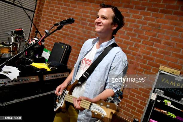 Chris Baio rehearsing with Vampire Weekend on April 18 2019 in Los Angeles California