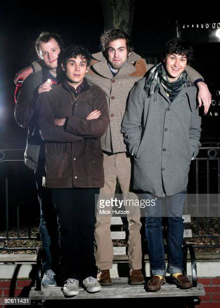 Chris Baio Rostam Batmanglij Chris Tomson and Ezra Koenig of Vampire Weekend pose for a group portrait on January 30th 2008 in New York