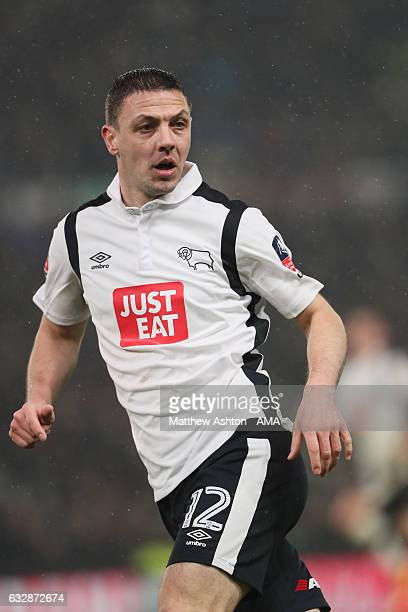 Chris Baird of Derby County during the Emirates FA Cup Fourth Round match between Derby County and Leicester City at iPro Stadium on January 27 2017...