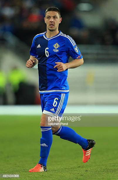 Chris Baird of Northern Ireland during the UEFA EURO 2016 Qualifying match between Finland and Northern Ireland at the Olympic Stadium on October 11...