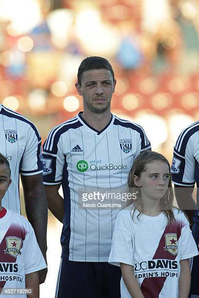 Chris Baird of West Bromwich Albion during the singing of the national anthem during the friendly match between West Bromwich Albion and Sacramento...