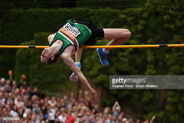 Chris Baker of Great Britain in action in the Men's High Jump during the Sainsbury's Anniversary Games at Horse Guards Parade on July 20 2014 in...