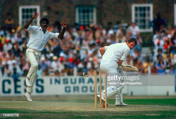 Chris Balderstone bowled by Michael Holding, England v West Indies, 5th Test, The Oval, Aug 1976.