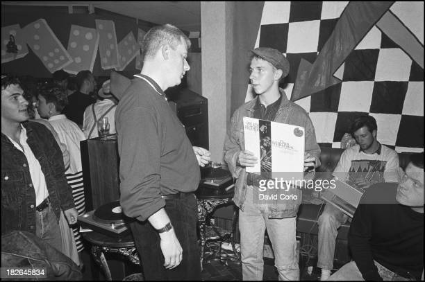 Chris Bangs and Gilles Peterson djing at 'Special Branch' at the Royal Oak Tooley Street London UK 1986