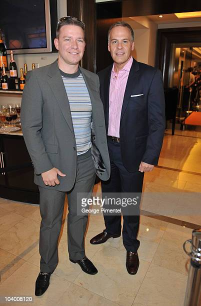 Chris Barber and Leslie Roberts attend the George Christie Luncheon during the 35th Toronto International Film Festival at Four Seasons Hotel on...