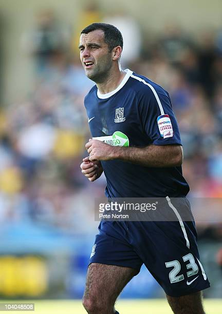 Chris Barker of Southend United in action during the npower League Two match between Northampton Town and Southend United at Sixfields Stadium on...