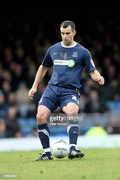 Chris Barker of Southend United in action during the npower League Two match between Southend United and Northampton Town at Roots Hall on February...