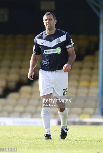 Chris Barker of Southend United in action during the npower League Two match between Southend United and Northampton Town at Roots Hall on September...