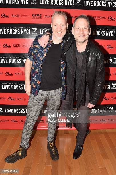 Chris Barron and Seth Frank attend the Love Rocks NYC PreConcert Cocktail at CESCA Restaurant on March 15 2018 in New York City