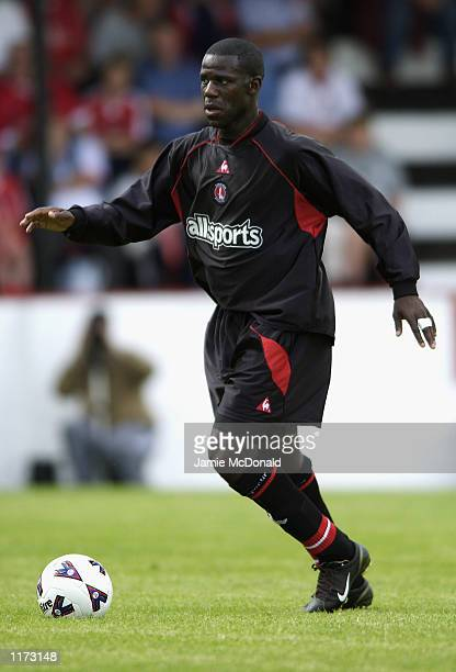 Chris BartWilliams of Charlton Athletic on the ball during the preseason friendly between Welling United and Charlton Athletic at Park View Road in...