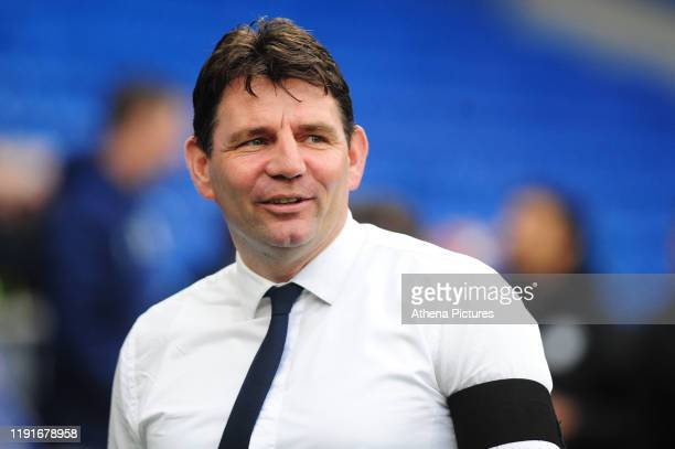 Chris Beech Head Coach of Carlisle United during the FA Cup third round match between Cardiff City and Carlisle United at the Cardiff City Stadium on...