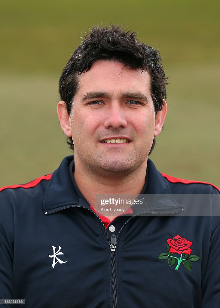 Chris Benbow the Performance Analyst & Support Coach of Lancashire CCC during a pre-season photocall at Old Trafford on April 2, 2013 in Manchester, England.