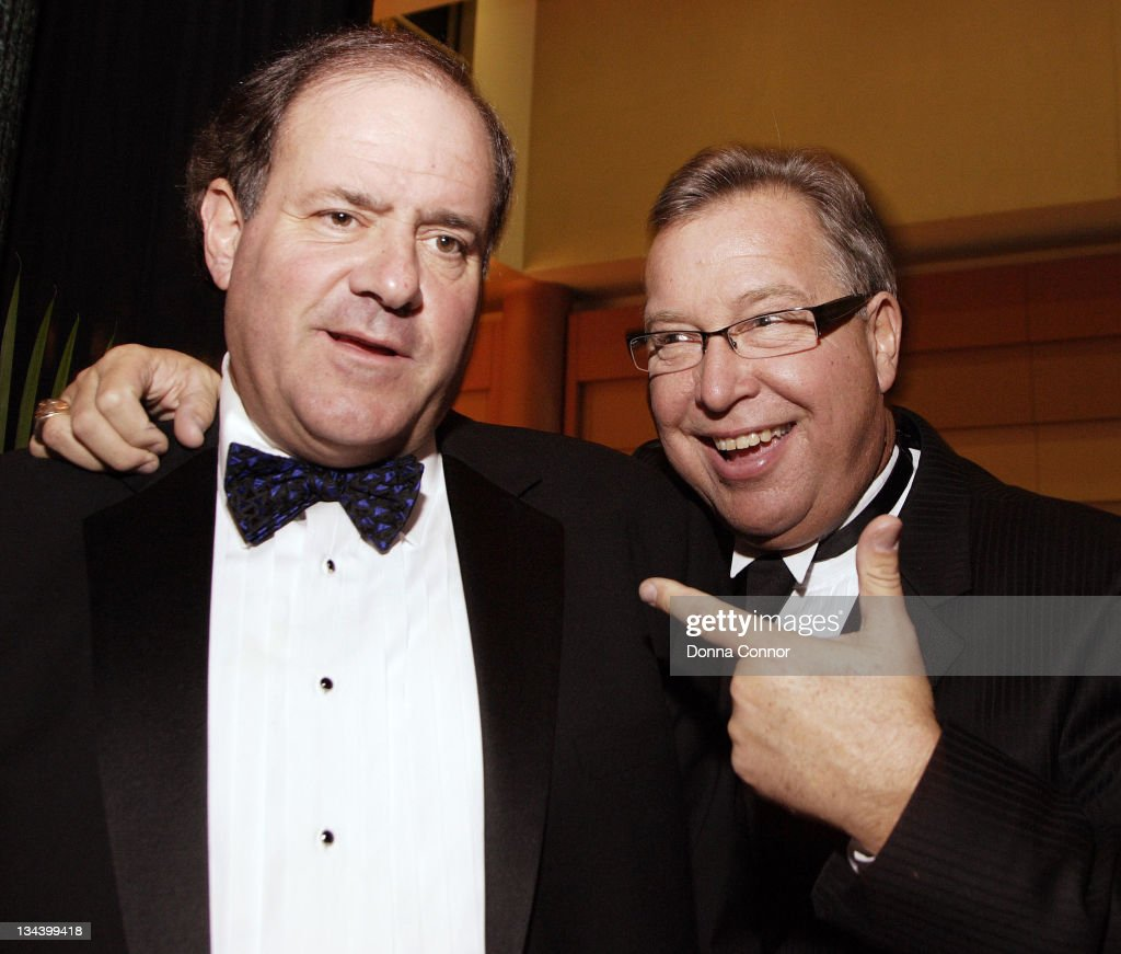 Chris Berman and Ron Jaworski during 70th Annual Maxwell Football Club Awards at Harrah's Atlantic City in Atlantic City, New Jersey, United States.