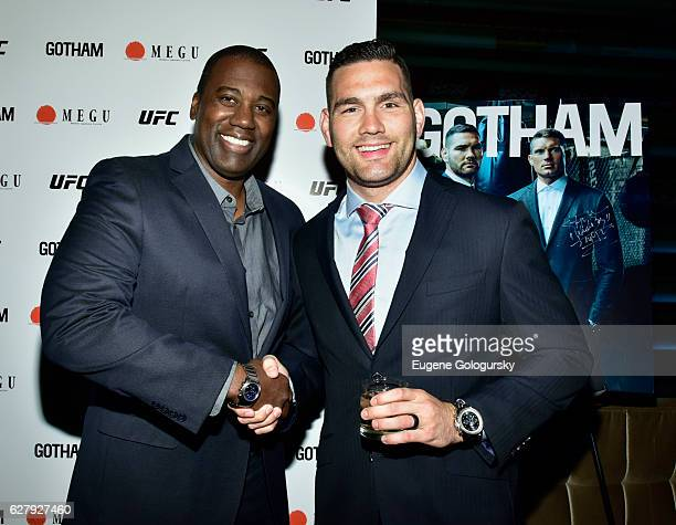 Chris Best and Chris Weidman attend the Gotham Magazine Celebration of Our Winter Issue With UFC Stars Chris Weidman and Stephen 'Wonderboy' Thompson...