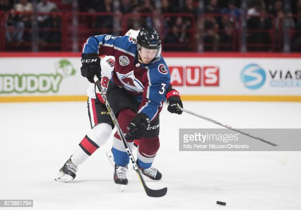 Chris Bigras of Colorado Avalanche during the 2017 SAP NHL Global Series match between Ottawa Senators and Colorado Avalanche at Ericsson Globe on...