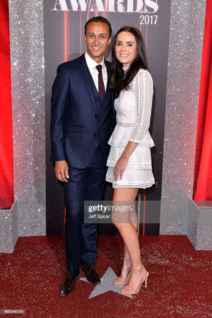 Chris Bisson and Rowena Finn attends The British Soap Awards at The Lowry Theatre on June 3, 2017 in Manchester, England. The Soap Awards will be aired on June 6 on ITV at 8pm.
