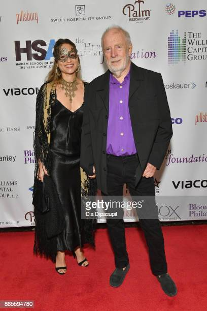 Chris Blackwell and guest attends HSA Masquerade Ball on October 23 2017 at The Plaza Hotel in New York City