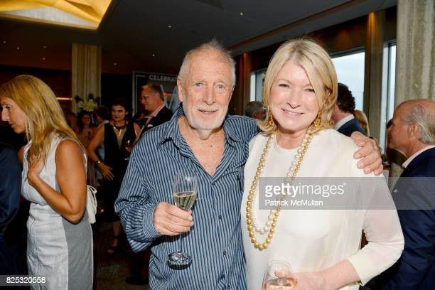 Chris Blackwell and Martha Stewart at Magrino PR 25th Anniversary at Bar SixtyFive at Rainbow Room on July 25 2017 in New York City