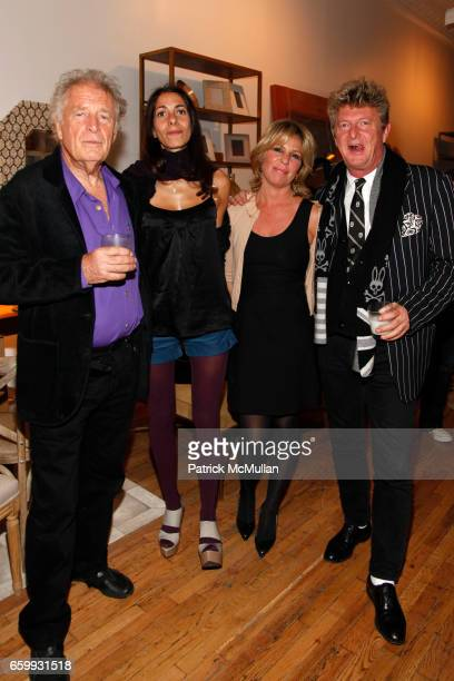 Chris Blackwell Oberon Sinclair Elizabeth Gaines and Nick Graham attend ROYAL HUT Launch at Calypso at Calypso St Barth on December 3 2009 in New...