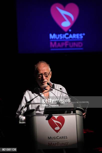 Chris Blackwell speaks on stage at the 13th Annual MusiCares MAP Fund Benefit Concert at the PlayStation Theater on June 26 2017 in New York City...