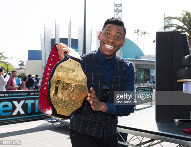 Chris Blue visits 'Extra' at Universal Studios Hollywood on May 24 2017 in Universal City California