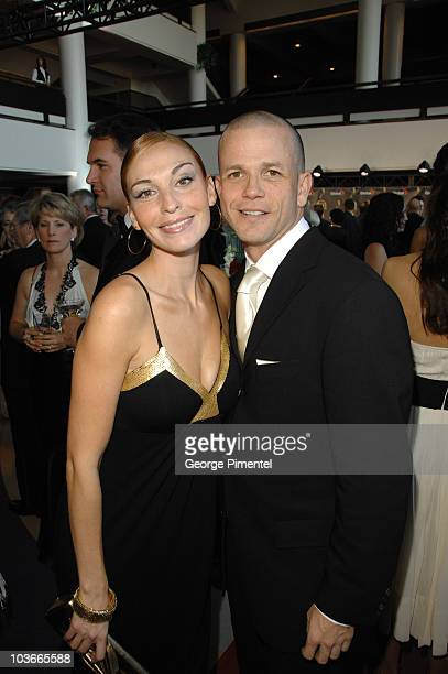 Chris Bolton and Inga Cadranel from Rent a Goalie attend The 22nd Annual Gemini Awards at the Conexus Arts Centre on October 28, 2007 in Regina,...