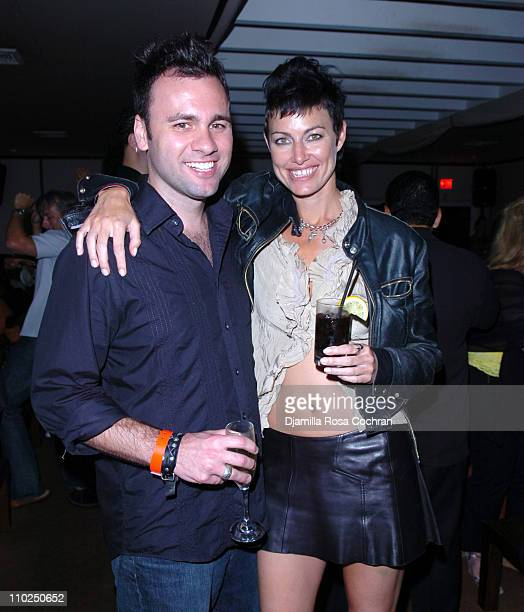 Chris Booker and Caron Bernstein during Cover Model Beth Ostrosky Celebrates her Birthday with Hamptons Magazine and Bulgari Aqua at Cain in...