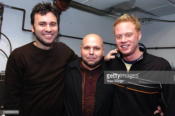 Chris Booker Matt Pinfield and Ben Harvey during K Rock Concert for Tsunami Relief Inside at Starland Ballroom in Sayrville New Jersey United States