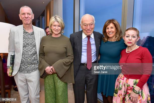 Chris Boot Martha Stewart Leonard Lauder Judy Glickman Lauder and Cathy Kaplan attend the Spring Party to benefit Aperture and to celebrate The...