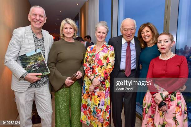 Chris Boot Martha Stewart Sarah Anne McNear Leonard Lauder Judy Glickman Lauder and Cathy Kaplan attend the Spring Party to benefit Aperture and to...